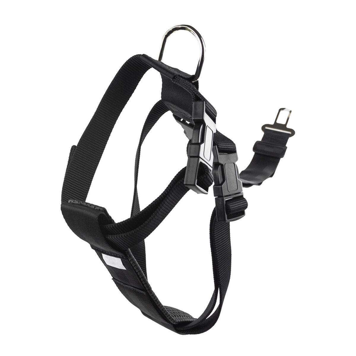 Veiligheidstuig Nylon 25mm Hondentuigje 60x80cm Zwart