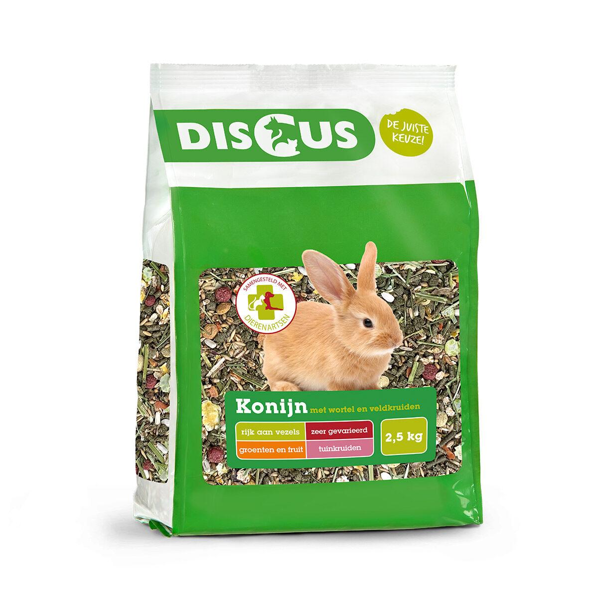 Discus Premium Konijnenvoer Wortel-Kruiden 2,5kg