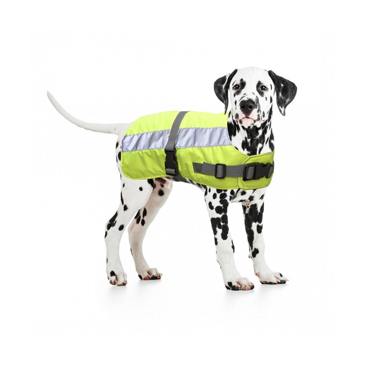 Duvo+ Flectalon Hi Vis Honden Jack Ruglengte 60 cm Geel - in Reflectie & Verlichting