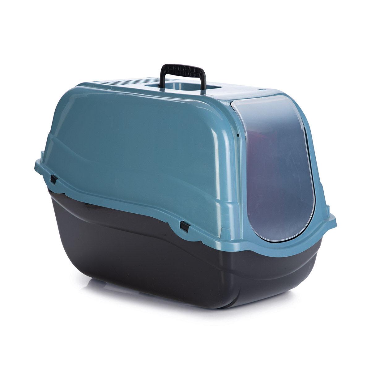 Kattenbak Romeo Eco 57x39x41cm Blauw-Zwart - in Kattenbakken & kattenbakaccessoires