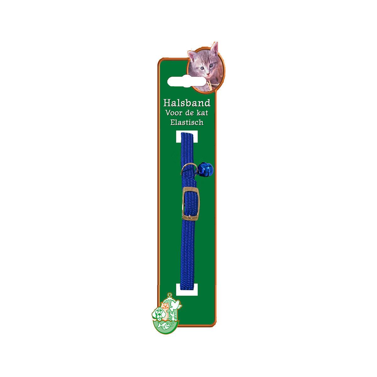 Kattenhalsband Elastisch Blauw - in Tuigjes & Halsbanden
