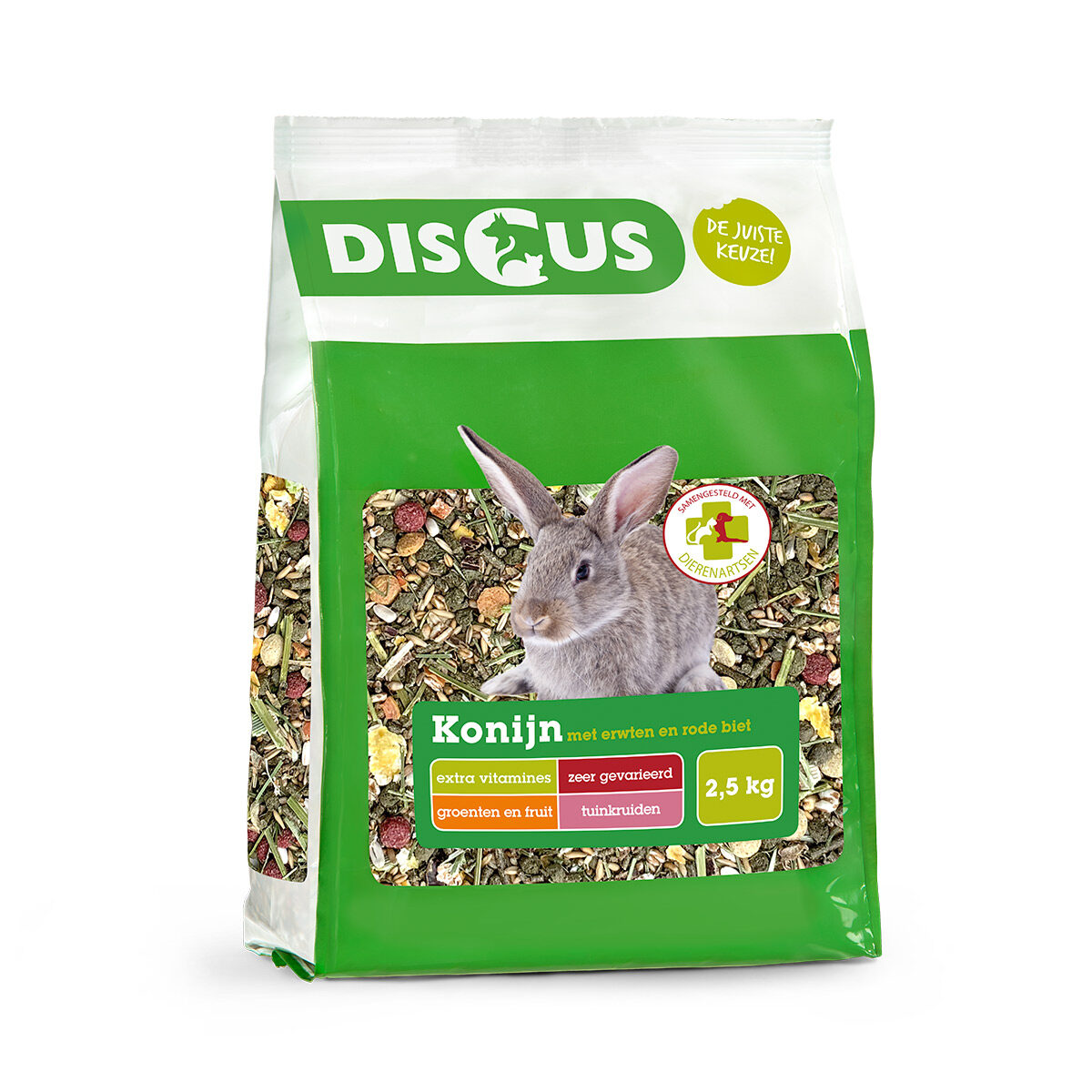 Discus Premium Konijnenvoer Erwten-Biet 2,5kg