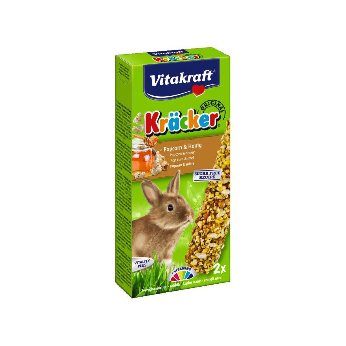 Vitakraft Kräcker Konijnensnack 2-in-1 Popcorn&Honing