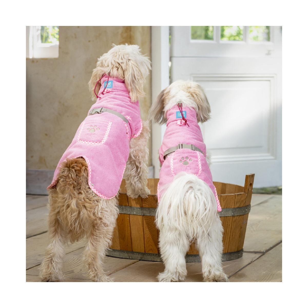 Lief! Hondenbadjas Girls XS Roze